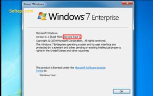 windows 7 ent service pack 1