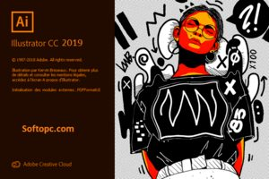 Adobe Illustrator CC 2019 Spash Screen