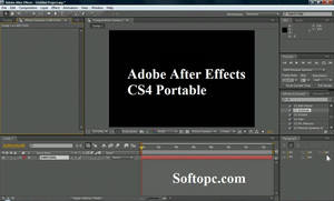 Adobe After Effects CS4 Portable Interface