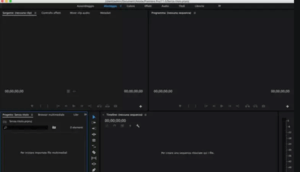 Timeline and Dashboard of Adobe Premiere Pro