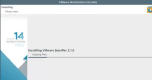 Installation of vmware installer