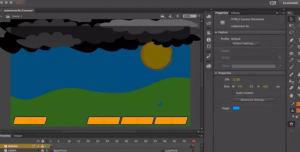 in a new template in adobe animate cc 2017