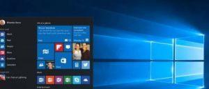 strat menu of windows 10 pro black