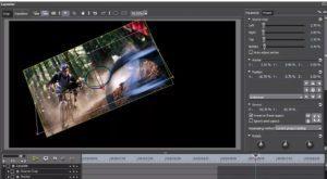 main scene editing in the video process