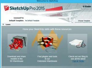 welcome dashboard of sketchup